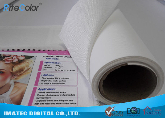 Matte Inkjet Digital Large Format Printing Canvas Polyester Print Fabric 220Gsm