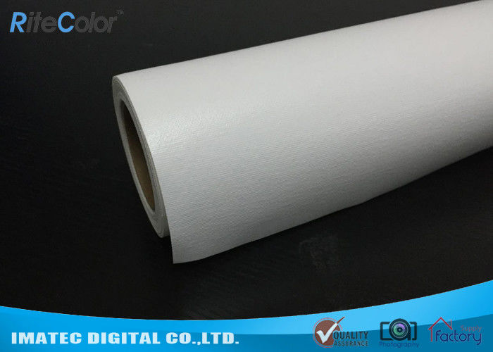 White Cotton Inkjet Eco Solvent Media , 360gsm Glossy Printable Cotton Canvas Roll