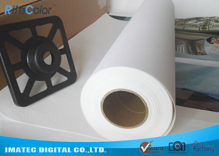 High Definition Aqueous Poly Cotton Printable Indoor Inkjet Canvas Roll / Inkjet Canvas Sheets