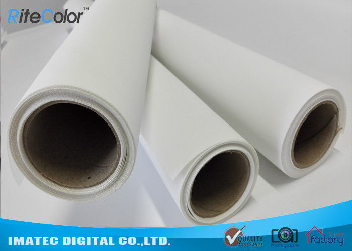 Waterproof 280gsm Matte Polyester Canvas Rolls Single Side For Giclee Inkjet Printing