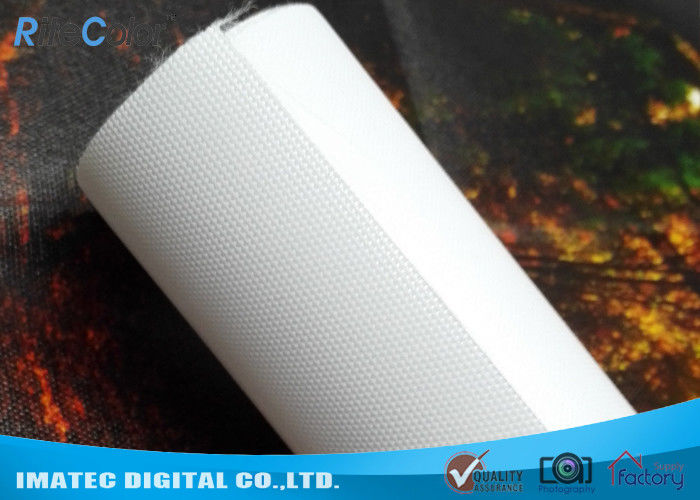 Waterproof 260gsm Latex and Eco Solvent Media , Glossy Polyester Canvas Roll 60 inches