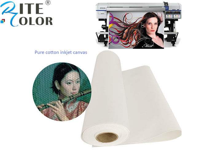 Waterproof 100% Pure Cotton Art Canvas Inkjet Paper For Printing Media