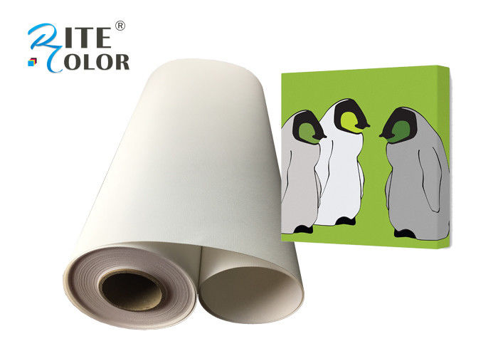 Stretchable Inkjet Cotton Art Canvas Rolls Waterproof 360gsm For Pigment Dye Ink